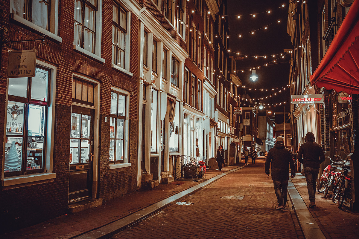 Night street Amsterdam