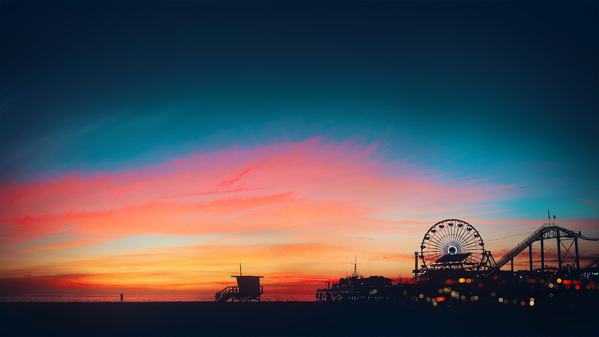 California Sunset on Santa Monica