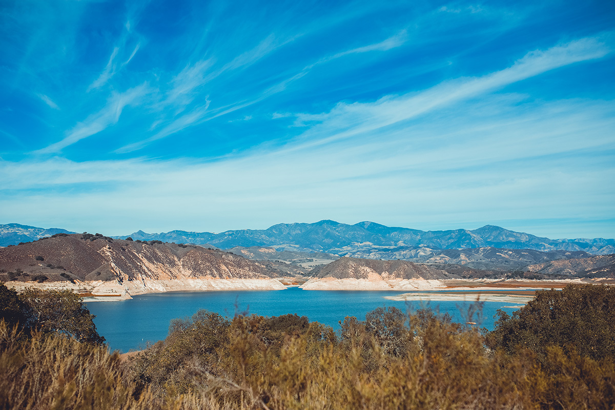California Cachuma Lake view