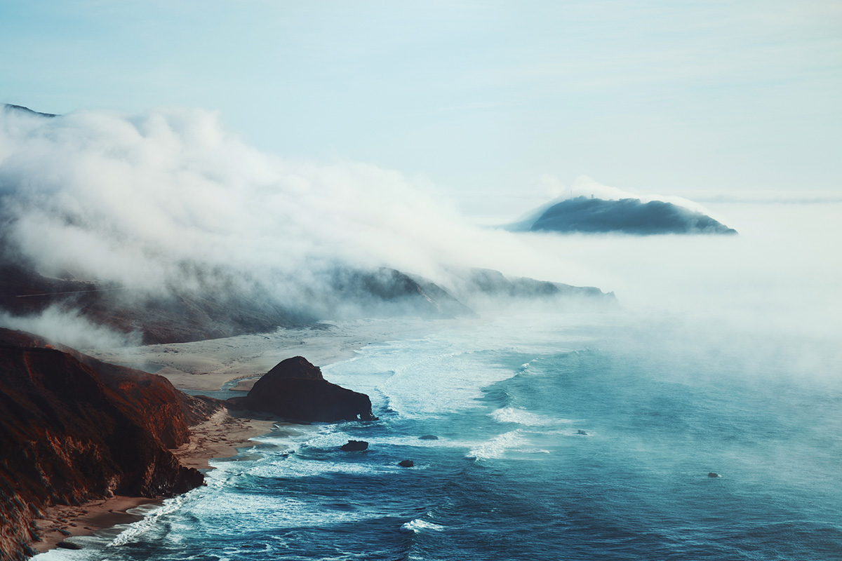 Big Sur mist fog California