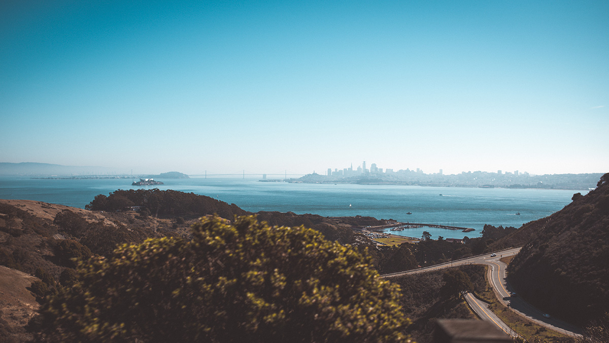 San Francisco view from Sausalito California