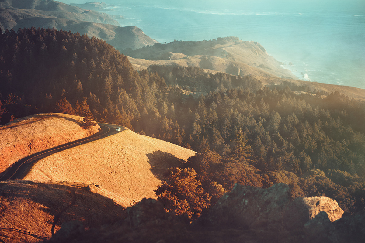 Mount Tamalpais road cliff California