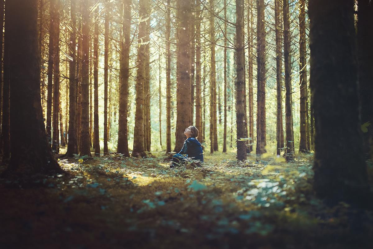 Selfportrait forest Jura Forest France