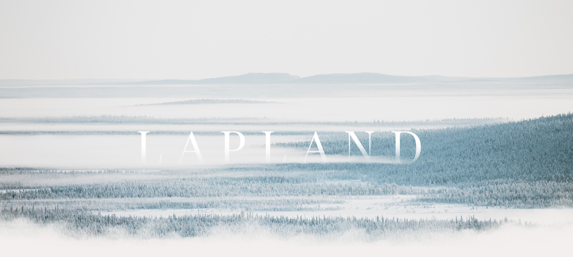 Lapland mist snow white landscape Raphaelle Monvoisin