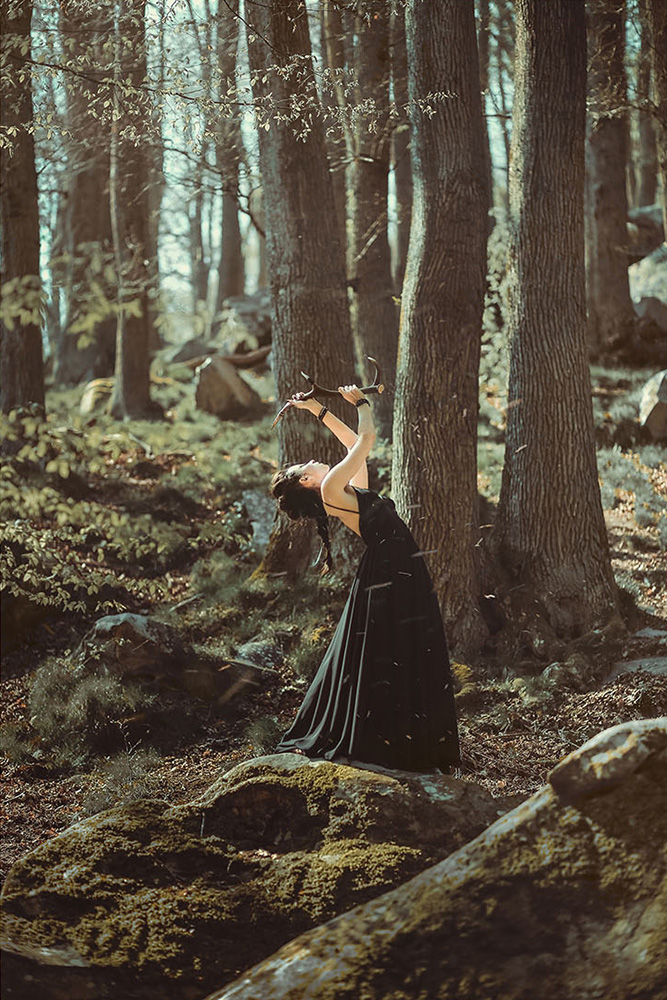 Moondust jewelry inspired by Sami Lappish traditions, shaman dance in the forest