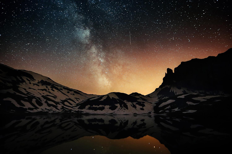 Raphaelle Monvoisin, Skies Sparkles, Anterne Lake French Alps