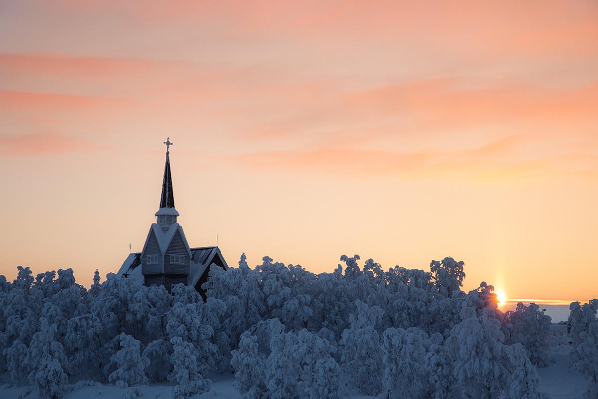 Karesuando church solar pilar Lapland Raphaelle Monvoisin