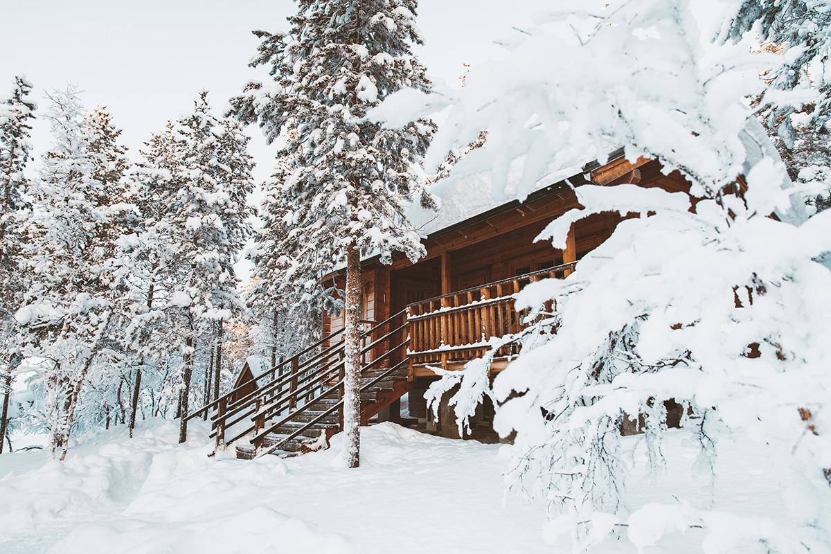 Cabin wood house Lapland Raphaelle Monvoisin