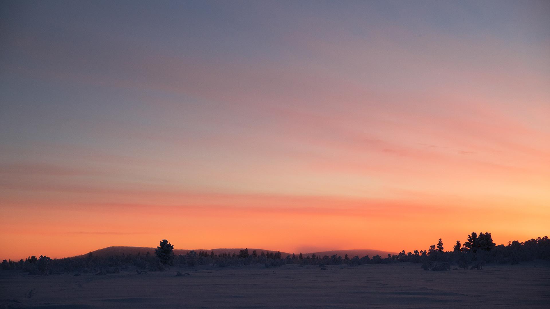 Sky sunset Lapland Raphaelle Monvoisin