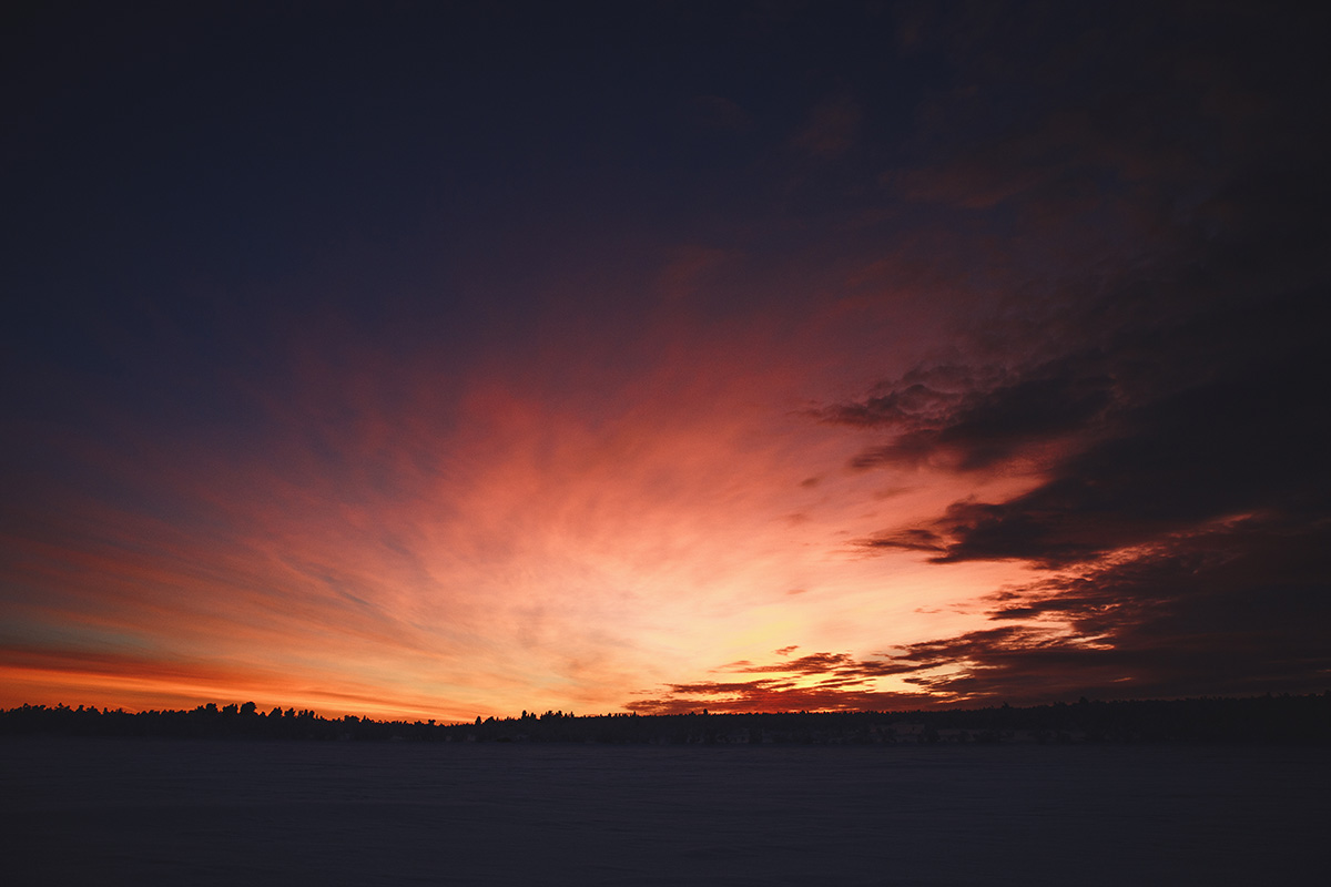 Lapland Kaarejarvi sunset arctic Raphaelle Monvoisin