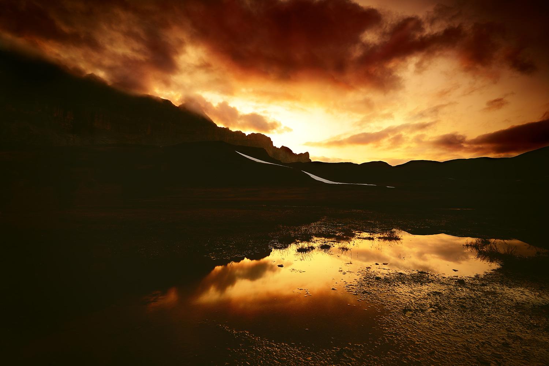 Raphaelle Monvoisin, Skies became fire, Antern Lake French Alps