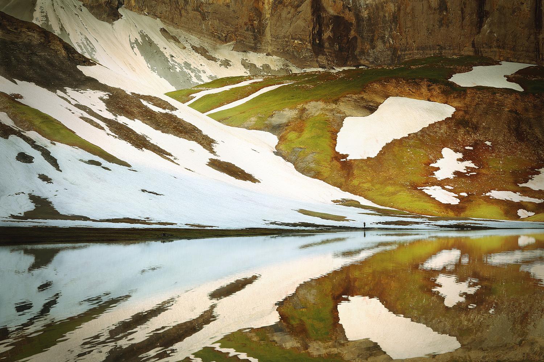 Raphaelle Monvoisin, Sun Rises on the Lake, Anterne Lake French Alps