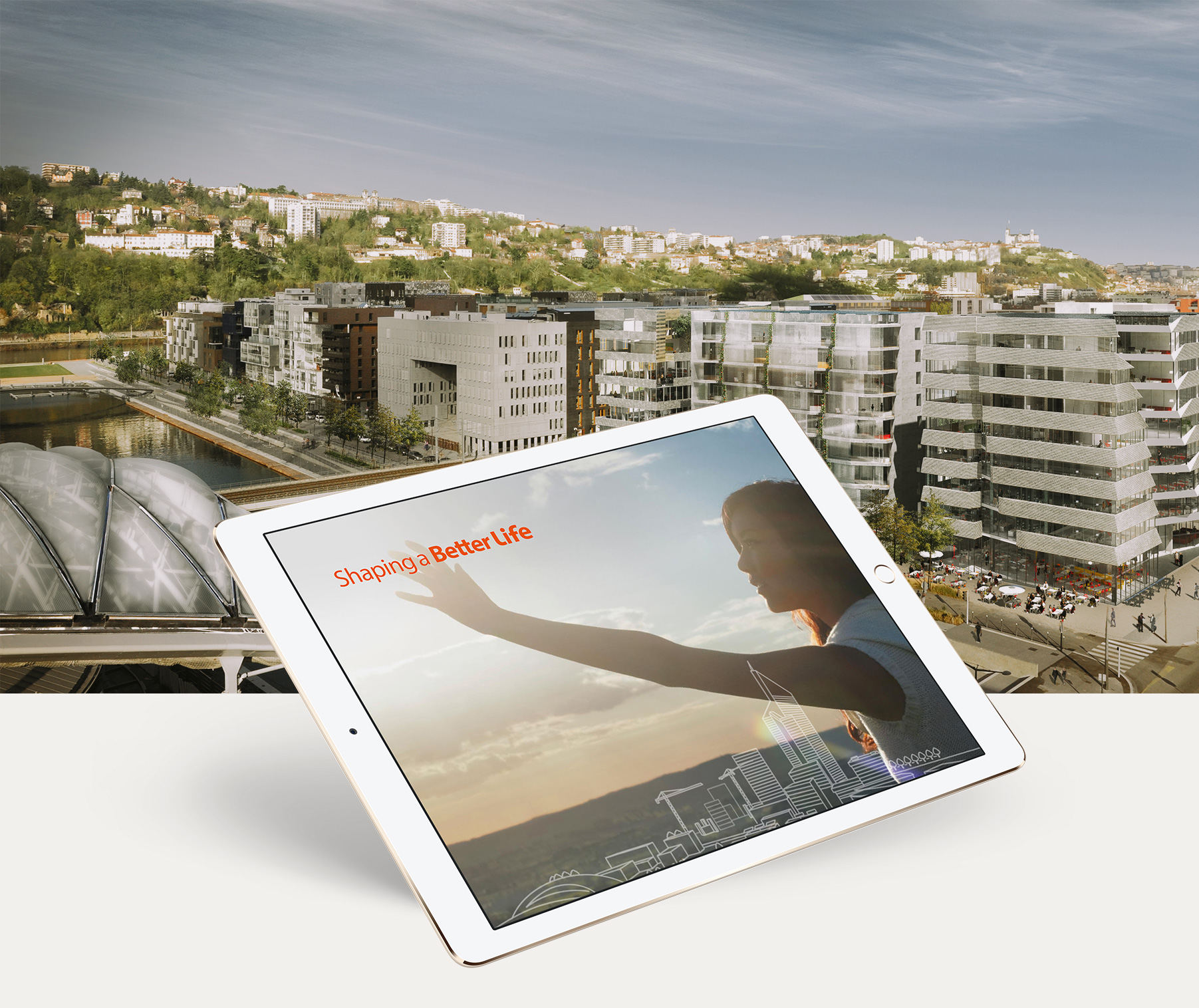 Bouygyes Construction Shaping a better life application app tablet