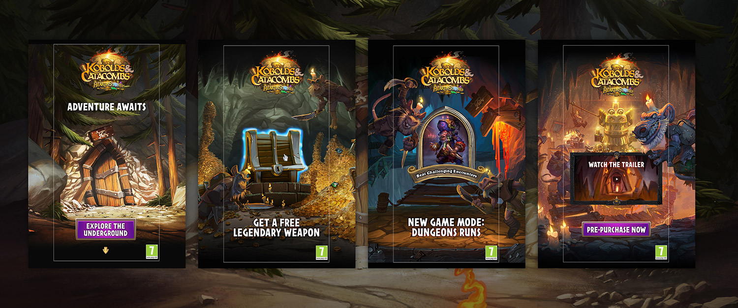 Blizzard Hearthstone Mobile ads kobolds and catacombs