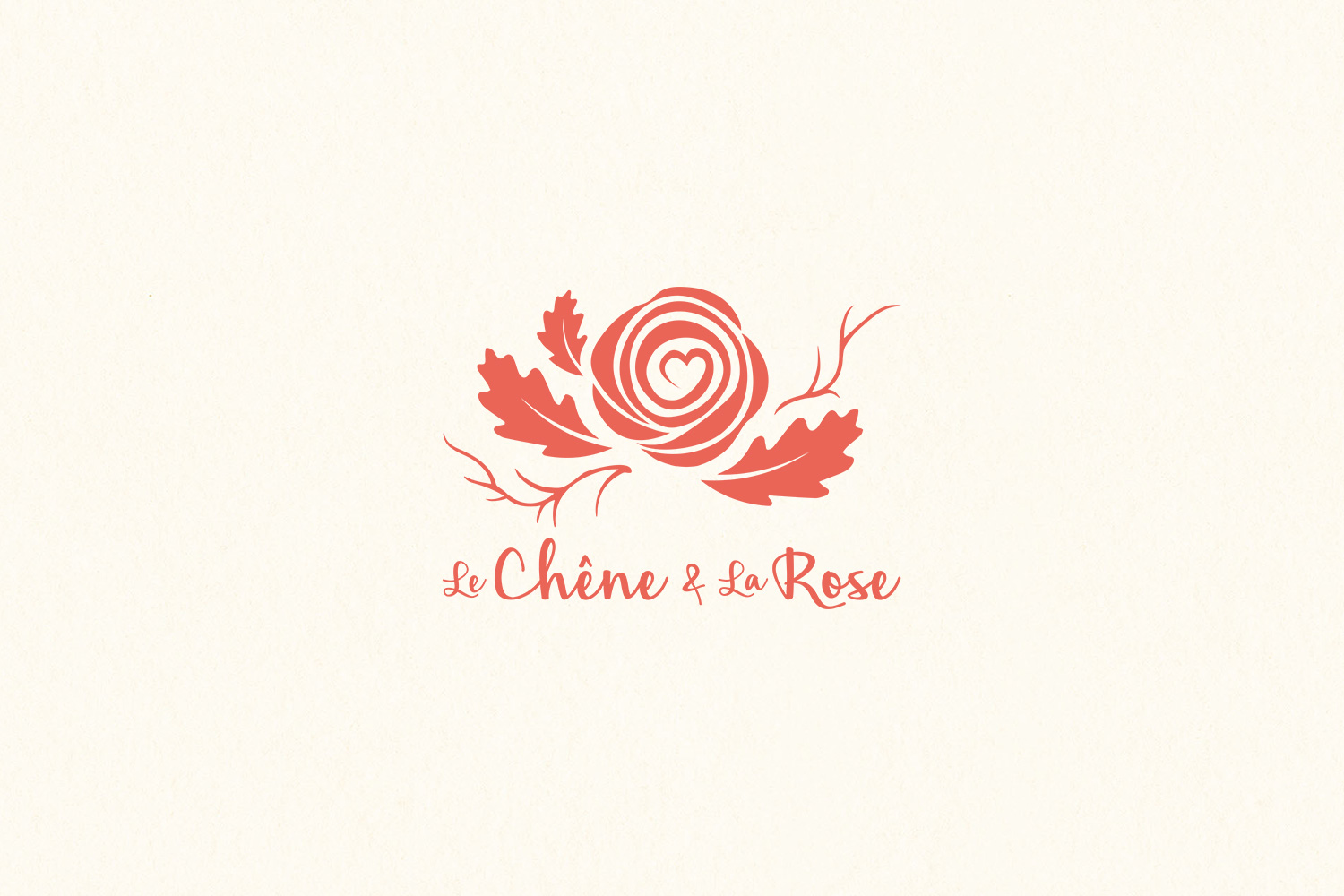 Logotype brand branding identity Le Chene & la Rose wedding photography filmmaking annecy