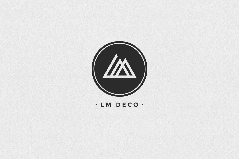 Logotype brand branding identity LM Deco indoor design architecture