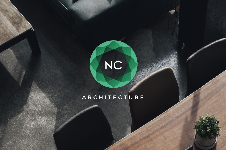 Logotype brand branding NC Architecture design architecture