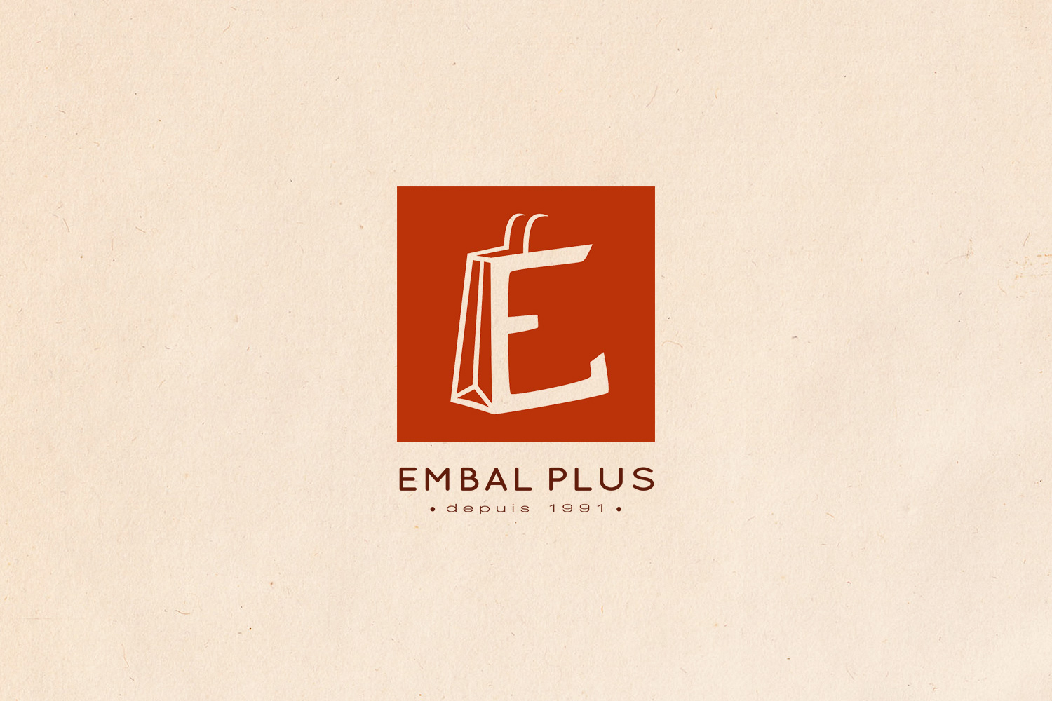 Logotype brand branding Embal Plus packaging hot stamping luxury shop