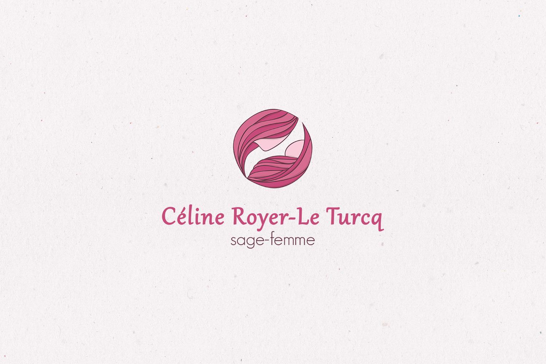 Logotype brand branding Celine Royer Le Turcq nurse midwife birth
