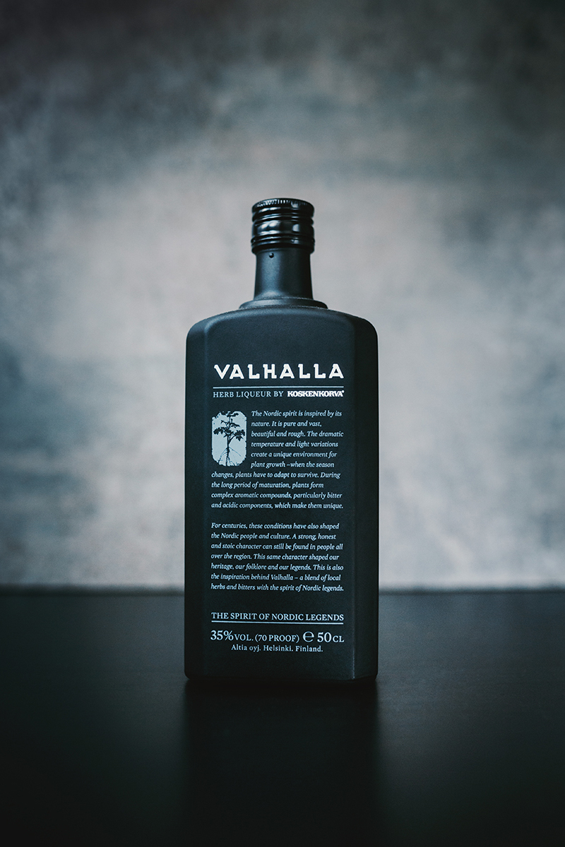 Raphaelle Monvoisin Valhalla herb liqueur liquor drink alcohol packshot product food still life photography