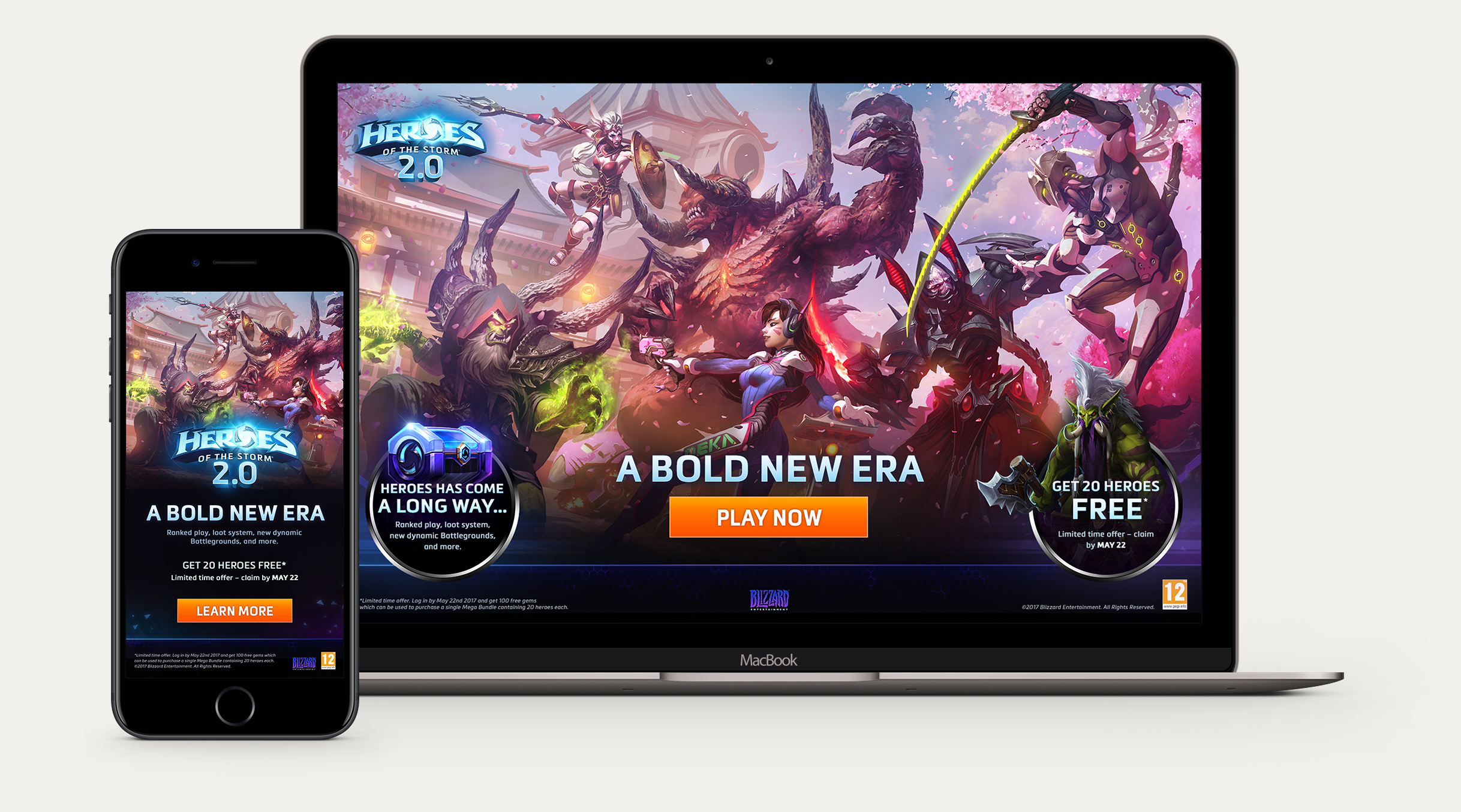 Heroes 2.0 relaunch website game blizzard moba