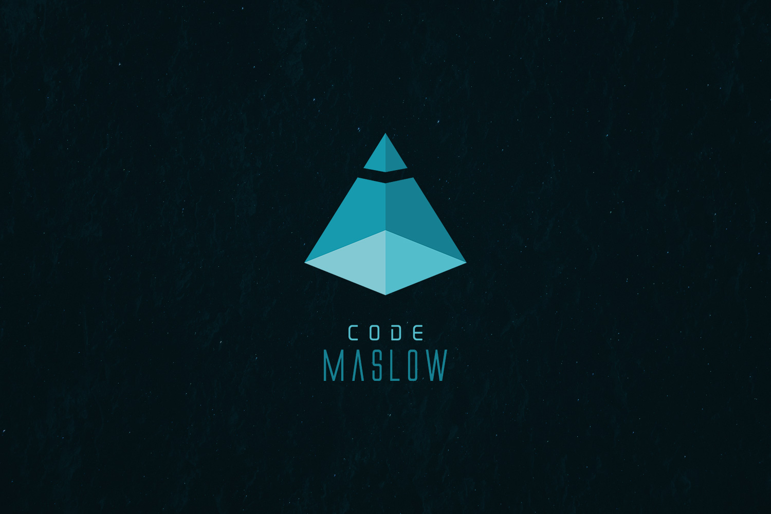 CODEMaslow developer logotype branding coding dev pyramid