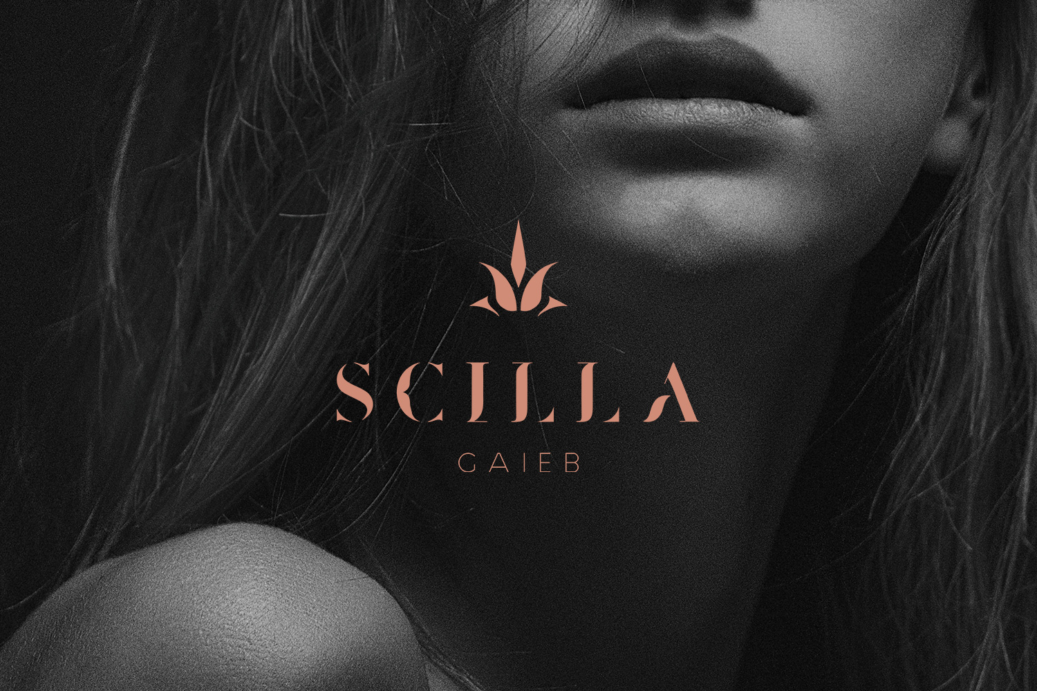 logotype Scilla Gaieb cosmetic beauty product
