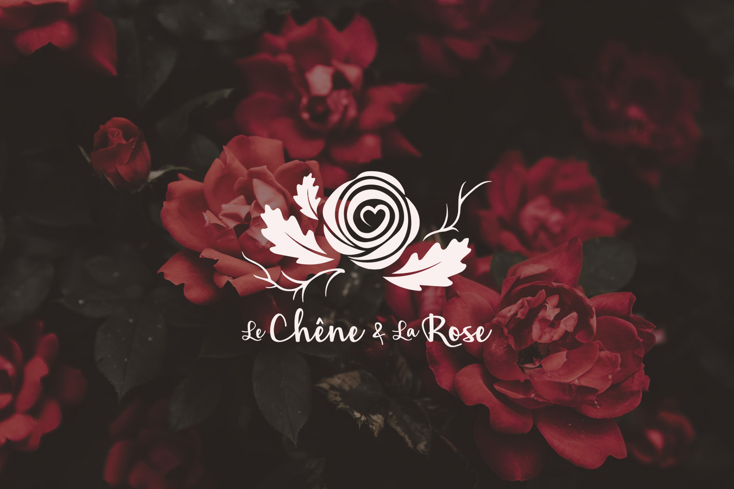 Chene Rose Oak Photography Photographe Photographer branding logo logotype visual identity botanical flower nature plant wedding love