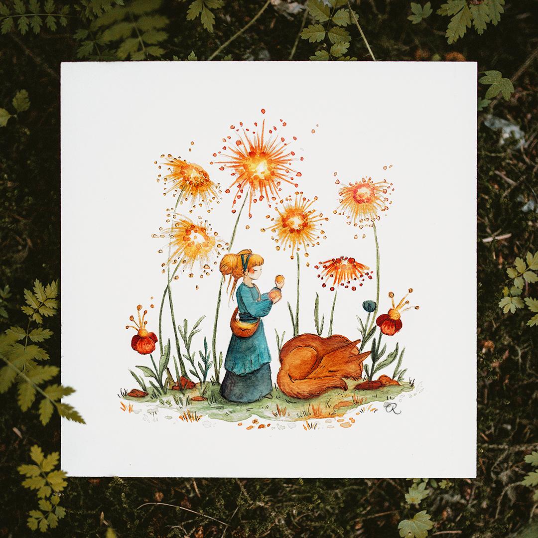 Raphaelle Monvoisin Watercolor Art Illustration fantasy folktale