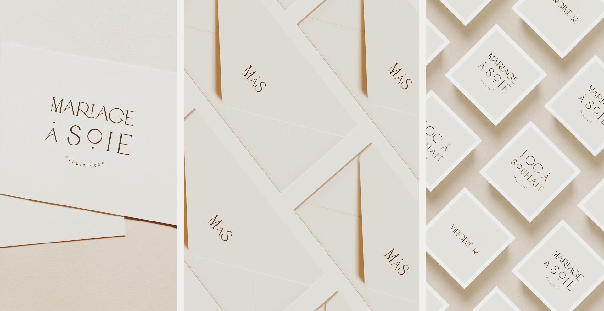 Mariage à Soie wedding planner stationary logo logotype