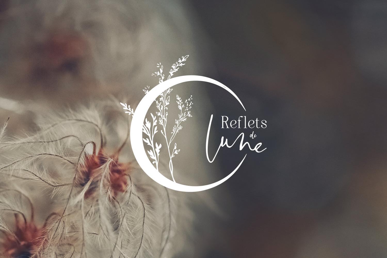 Reflets de Lune logotype branding jewellery jewels